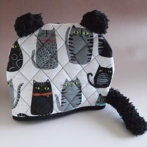 ティーコジー ポットカバー ブラックテールキャット おすわり レッドカラー ハンドメイド雑貨|comfy-shop