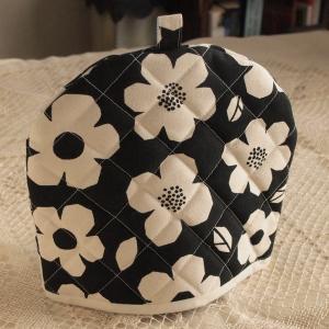 ティーコジー ポットカバー プリムラ ブラック ハンドメイド雑貨|comfy-shop