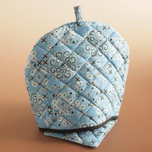 ティーコジー ポットカバー&マット バンダナ ブルー ハンドメイド雑貨|comfy-shop