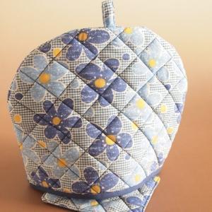 ティーコジー ポットカバー&マット フラワーランド ブルー ハンドメイド雑貨|comfy-shop