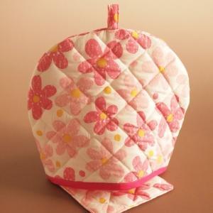ティーコジー ポットカバー&マット フラワーランド ピンク ハンドメイド雑貨|comfy-shop
