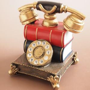 インテリア雑貨 ミニチュアオーナメント オールドテレフォン 貯金箱 アンティーク雑貨|comfy-shop