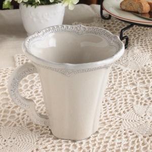 マグカップ おしゃれ イタリア食器 ラ・セラミカ レース マグカップ アンティーク調 |comfy-shop