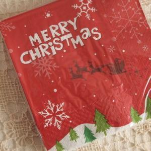 キッチン雑貨 サンドイッチ ナプキン ペーパーナプキン クリスマス サンタ|comfy-shop