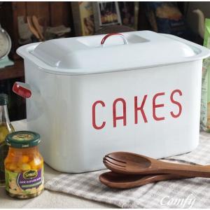アンティーク調 ミンミ ホーロー ケーキ缶 米びつ ストッカー カントリー雑貨 キッチン雑貨 |comfy-shop