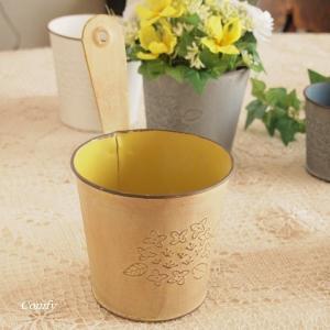 ガーデニング雑貨 オルタンシア フックポット L イエロー|comfy-shop
