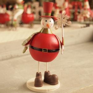 ブリキ 卓上 クリスマス オーナメント サンタ服のスノーマン|comfy-shop