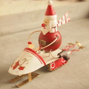 ブリキ 卓上 クリスマス オーナメント ソリ サンタ|comfy-shop