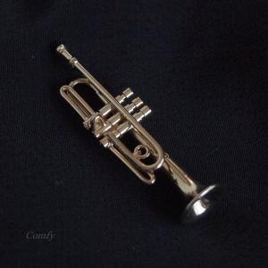 ピンバッジ ミニチュア楽器 トランペット|comfy-shop