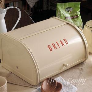 ホームステッド 北欧雑貨 アンティーク調 ブレッド缶 レッド 北欧 カントリー雑貨 キッチン雑貨|comfy-shop