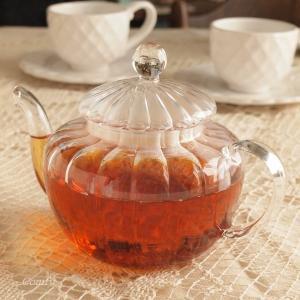 ガラス食器 ダルトン ティーポット パンプキン 耐熱ガラス 茶こし付き|comfy-shop