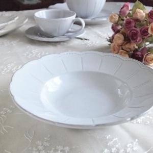 カフェ風食器 クラッシックスタイル レリーフ スーププレート アダージョ 20cm アンティーク調