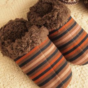 防寒対策 ふわふわもこもこ ルームシューズ ボアスリッパブラウン 室内履き|comfy-shop