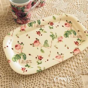 キッチン雑貨 ルドゥーテ ローズ カフェ トレイ|comfy-shop