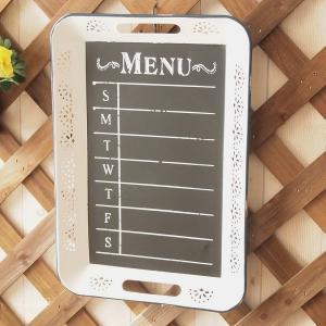 トレイ キッチン雑貨 ホーロー  アンティーク調 メニューボード|comfy-shop