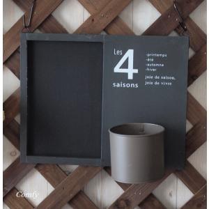 黒板 ウッドサインボード おしゃれインテリア雑貨 壁掛け ブラック|comfy-shop