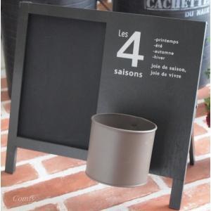 黒板 ウッドサインボード おしゃれインテリア雑貨 スタンド/壁掛け ブラック|comfy-shop