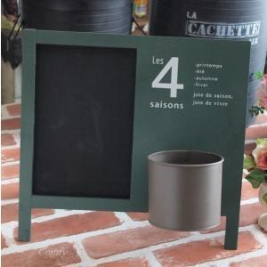 黒板 ウッドサインボード おしゃれインテリア雑貨 スタンド/壁掛け グリーン|comfy-shop