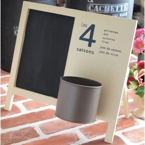 黒板 ウッドサインボード おしゃれインテリア雑貨 スタンド/壁掛け アイボリー|comfy-shop