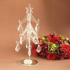 クリスマス オーナメント ガラス クリスマス雑貨 リーフ ツリー クリア|comfy-shop