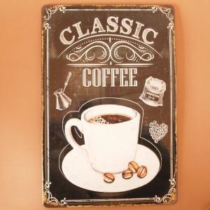 インテリア雑貨 ブリキの壁掛け ティンプレート レトロコーヒー アンティーク調 comfy-shop