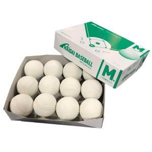即納 ナイガイ 軟式M号 2017年9月〜新規格 ダース販売  公認試合球  領収書発行可能 2ダースから送料無料!軟球 野球用品 ボール 公認球|commencer