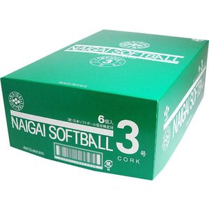 ソフトボール 検定3号ボール ナイガイ 12個 1ダース売り |commencer