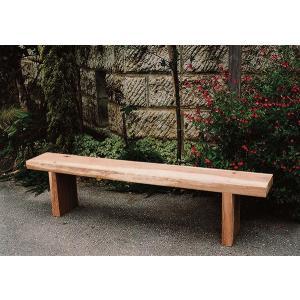 枕木台ベンチ1型(カンナ・無塗装仕上げ) ガーデンベンチ 木製 完成品 ガーデンファニチャー 長椅子 屋外 庭 エクステリア アームレス commitand