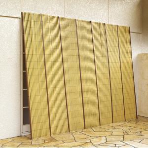 竹垣風たてす 184×184cm 正方形 日除け 日差し対策 シェード 目隠し 和風 和モダン 和テイスト たてすだれ commitand