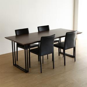 ダイニングテーブル dolce 180cm ウォールナット オーク 無垢 日本製 国産 大川家具 (北欧 ミッドセンチュリー) カフェ|commode-house