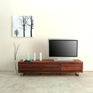 テレビ台 ローボード テレビボード slit 160 ウォールナット (北欧 ミッドセンチュリー) カフェ 野中木工所 日本製 国産 大川家具|commode-house