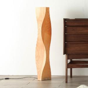 スタンドライト 国産 木製 フロアライト 樺桜 北欧 和モダン 和風 モダン ナチュラル LED対応 レトロ クラシック Twisty/ツイスティー|commode-house