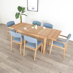 ダイニングテーブル 伸縮テーブル 木製 日本製 国産 大川家具 国産 (北欧 ミッドセンチュリー) カフェ|commode-house