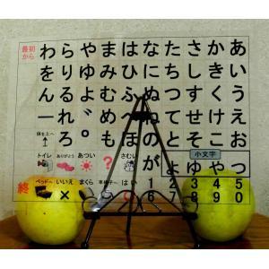 (みぎ配列)コミュニケーションボード・介護用透明文字盤・A3判