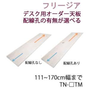 フリージア TN-NTM TN-QTM TN-FTM 幅111〜170cmまで対応 デスク用オーダー天板 配線孔なし/あり 数量・位置指定可能|communication1