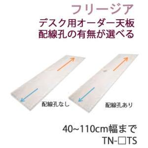 フリージア TN-NTS TN-QTS TN-FTS 幅40〜110cmまで対応 デスク用オーダー天板 配線孔なし/あり 数量・位置指定可能|communication1