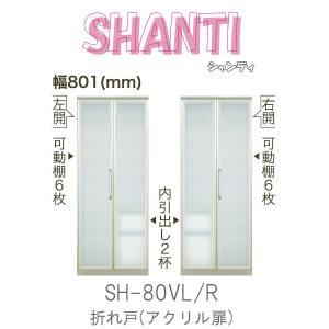 綾野製作所 食器棚 キッチンボード 食器収納 幅80cm SH-80VL SH-80VR シャンティ SHANTI 縦型キャビネット communication1