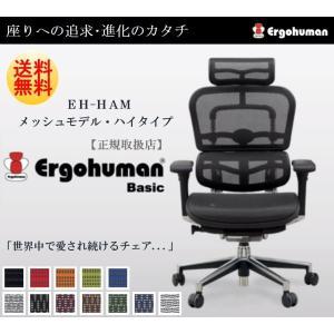 Ergohuman Basic エルゴヒューマン ベーシック EH-HAM オフィスチェア パソコン...