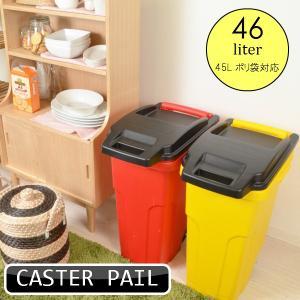 ゴミ箱 ダストボックス キャスターペール CASTER PAIL 大容量 大人気 キャスター付き ごみ箱 45C2|comodocrea