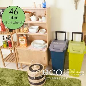ゴミ箱 ダストボックス エコ コンテナスタイル eco container style 大容量 おしゃれ 大人気 キャスター付き ごみ箱 CS2-45C2|comodocrea