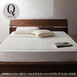 ベッド クイーン フロアベッド マルチラススーパースプリングマットレス付き クイーンベッド comodocrea