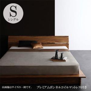 ベッド シングルベッド 安い シングルベッド ローベッド ローベッド フロアベッド プレミアムボンネルコイルマットレス付き|comodocrea