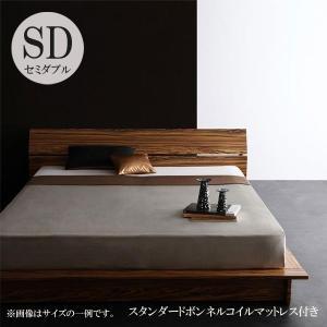 ベッド セミダブルベッド 安い セミダブルベッド ローベッド マットレス付き フロアベッド|comodocrea