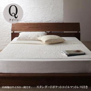 ベッド クイーン フロアベッド スタンダードポケットコイルマットレス付き クイーンベッド comodocrea