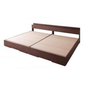 収納付き大型モダンデザインベッド ベッドフレームのみ ワイドK280(D×2)|comodocrea
