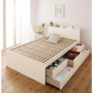 セミダブルベッド 日本製 棚 コンセント付き大容量すのこチェストベッド ベッドフレームのみ セミダブル|comodocrea