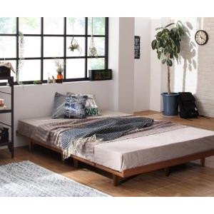 デザインボードベッド プレミアムボンネルコイルマットレス付き 木脚タイプ フルレイアウト セミダブル フレーム幅120|comodocrea
