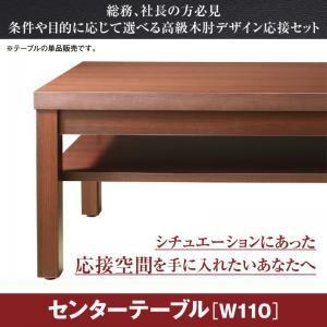 条件や目的に応じて選べる高級木肘デザイン応接ソファセット Office Grade オフィスグレード センタ―テーブル W110|comodocrea