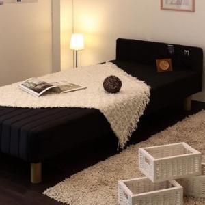 ベッド 脚付きマットレス セミシングル マットレス付きベッド  セミシングルベッド ROCHE ロッシュ パネル付きスプリングマットレスベッド セミシングル|comodocrea