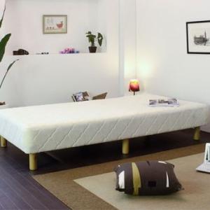 ベッド 脚付きマットレス セミシングル マットレス付きベッド TOLLET トレット 低反発ウレタン入りポケットコイルマットレスベッド セミシングル|comodocrea